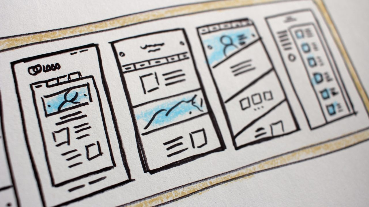 wireframes that we use for learning about layout